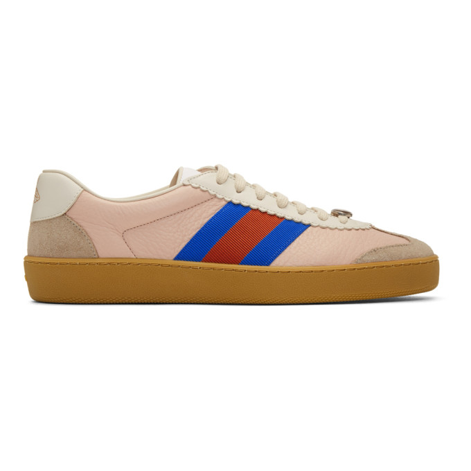 Gucci Pink & Beige G74 Sneakers