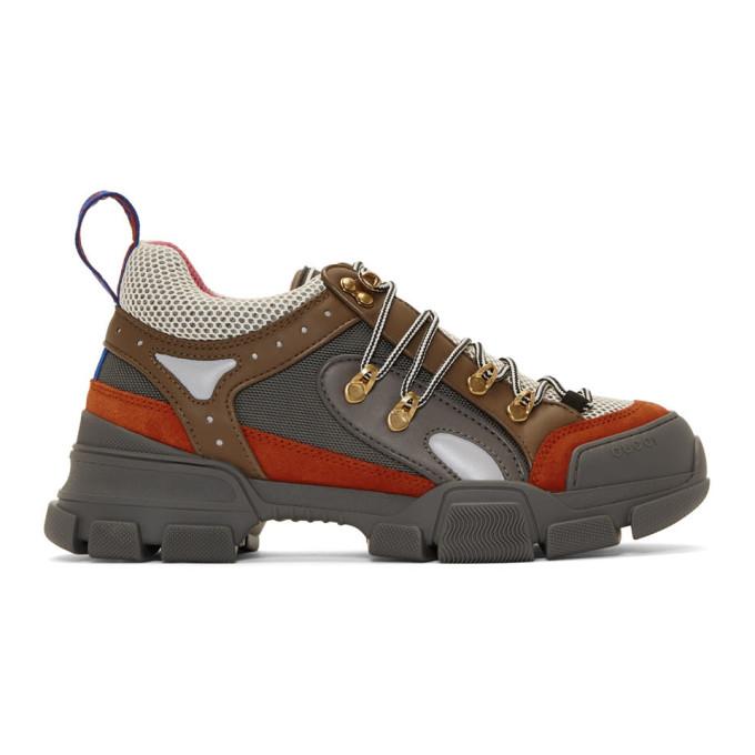 Gucci Grey Flashtrek Sneakers