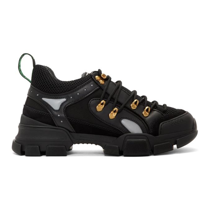 Gucci Black Flashtrek Sneakers