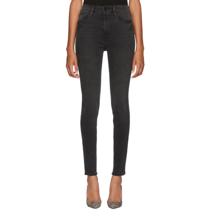 Frame Black High Skinny Jeans