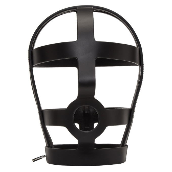 Image of Fleet Ilya SSENSE Exclusive Black Arca Edition Tormenta Zip Cage Head Piece