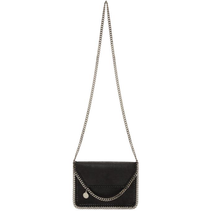 Stella McCartney Black Mini Falabella Crossbody Bag