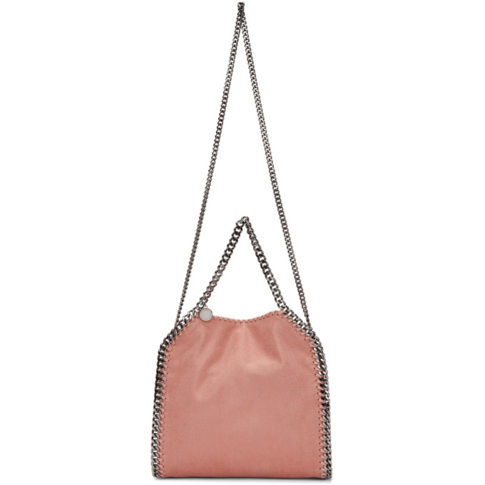 Pink Mini Falabella Tote in Metallic
