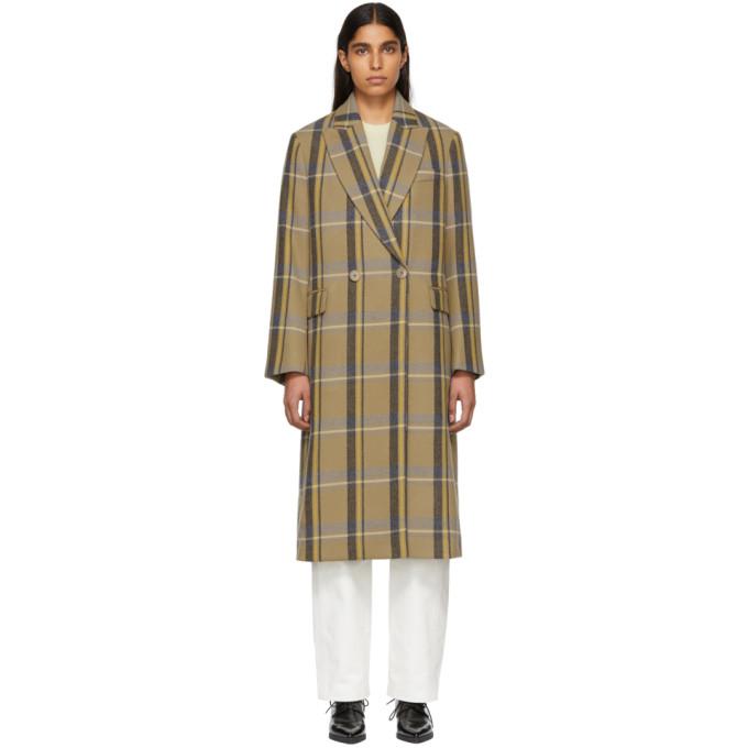 Stella Mccartney Tan Check Oversized Coat, 9860 Newca