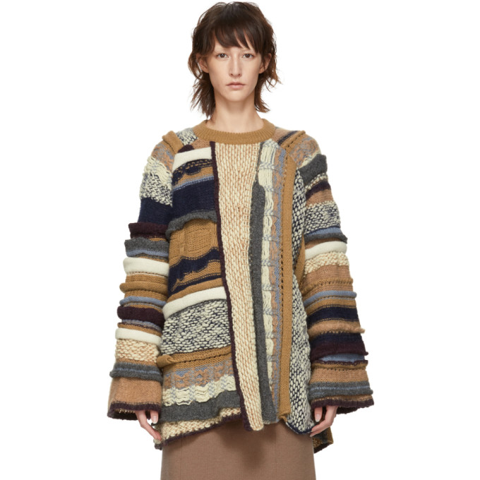 Stella McCartney Pull multicolore Textured Stitch