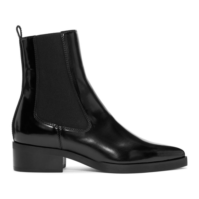 Stella McCartney Black Pointed Chelsea Boots