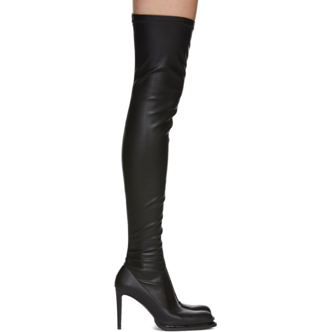Stella McCartney Black Palmer Over-the-Knee Boots