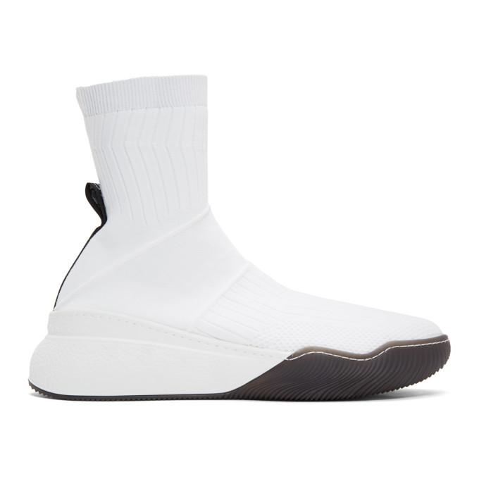 Stella McCartney SSENSE Exclusive White Loop Sock Sneakers