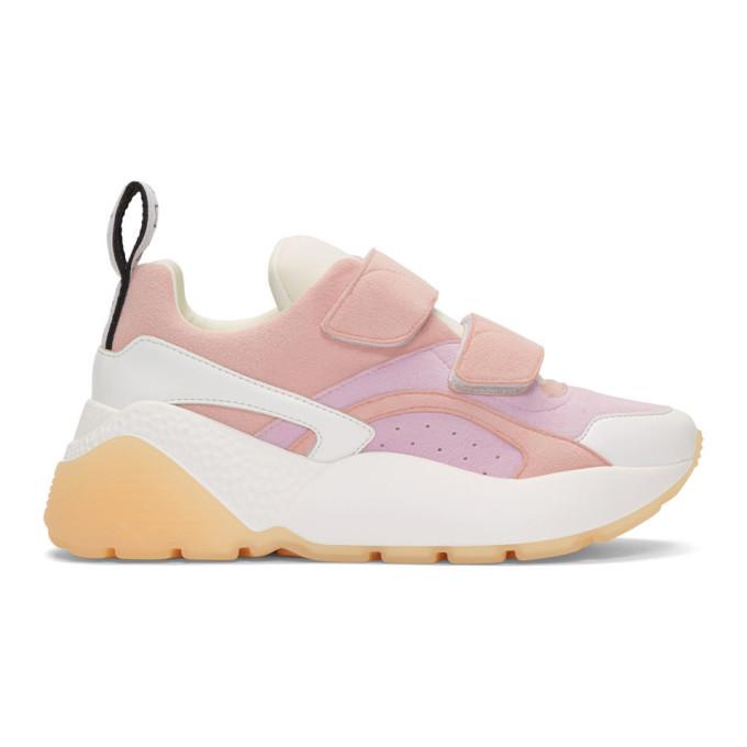 Stella McCartney Pink & White Eclipse Sneakers