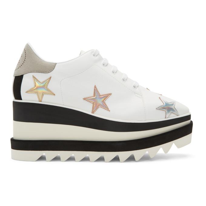 Stella McCartney White Elyse Stars Platform Derbys