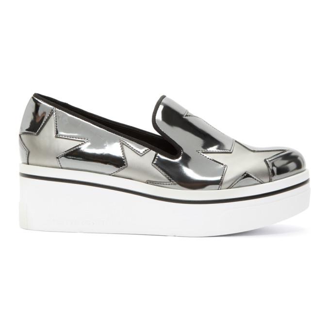 Stella McCartney Silver Binx Stars Slip-On Sneakers