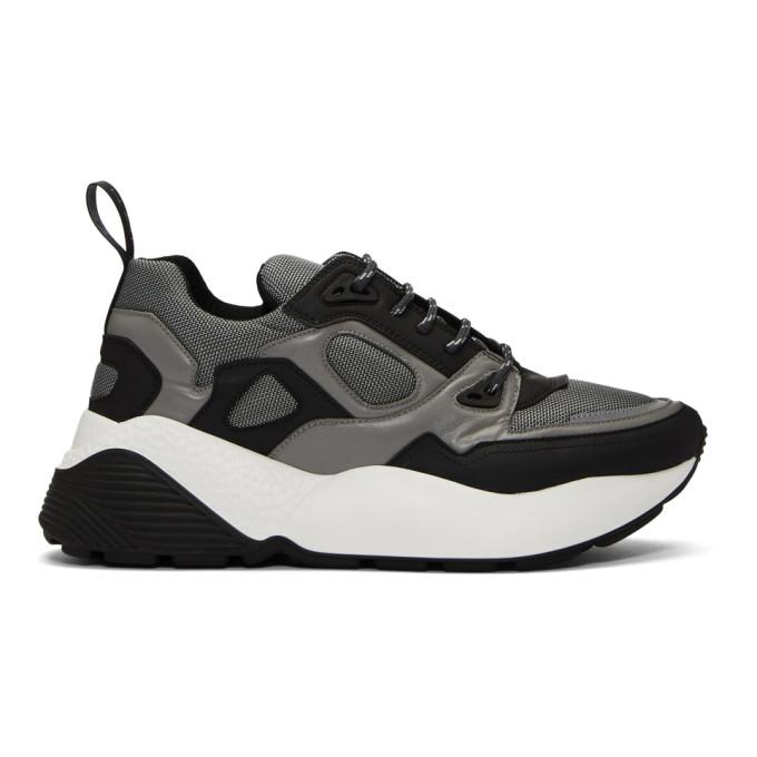 Stella McCartney Black & Silver Eclypse Sneakers