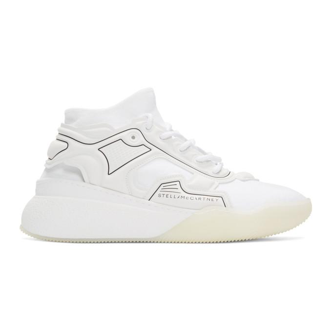 Stella McCartney White Fabric Running Sneakers