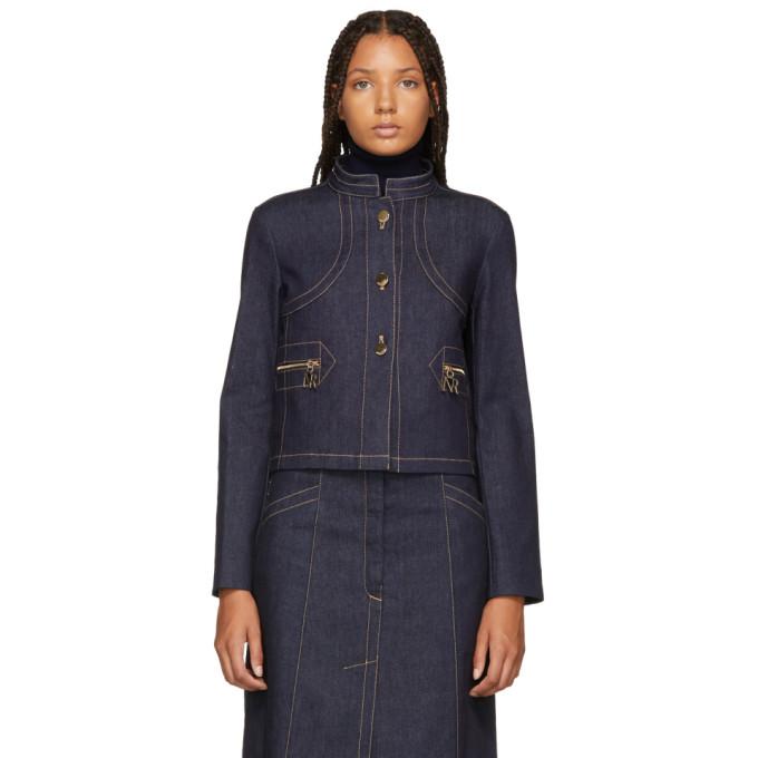 Nina Ricci Indigo Denim Jacket, U4227 Dk Bl
