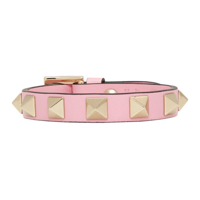 Image of Valentino Pink Valentino Garavani Rockstud Bracelet
