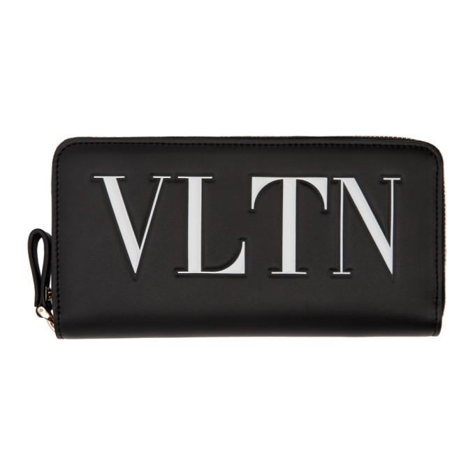 Valentino Black Valentino Garavani 'VLTN' Continental Wallet