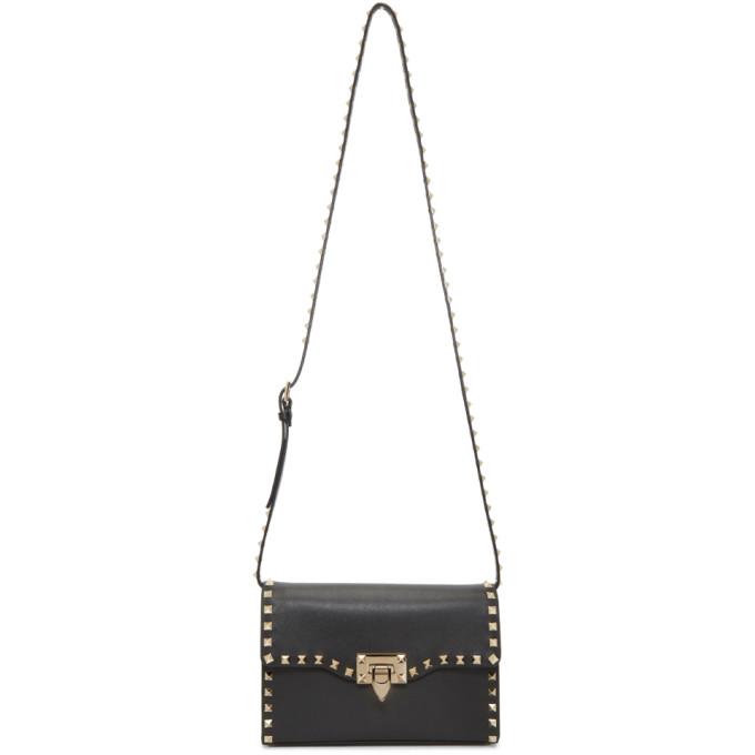 Valentino Black Valentino Garavani Medium Rockstud Flap Bag