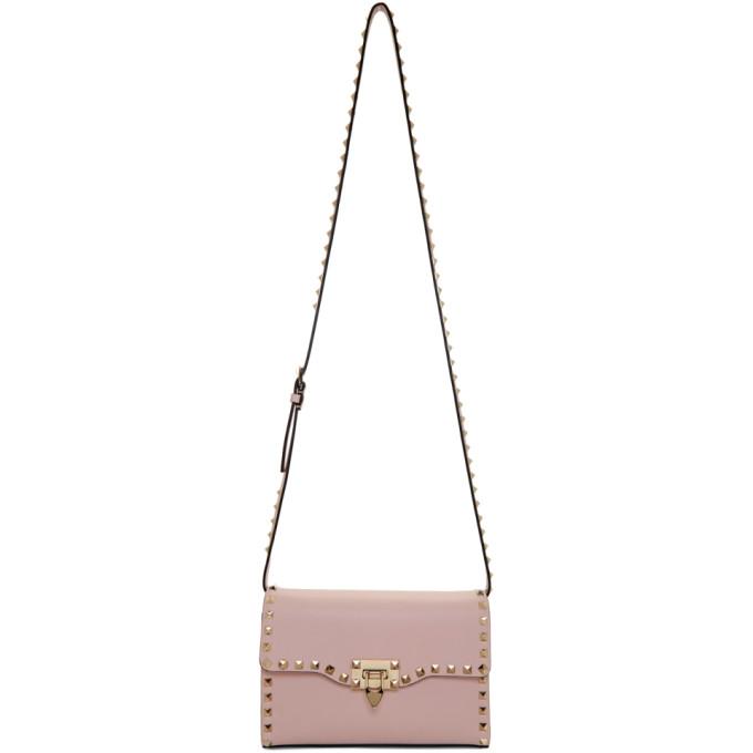 Valentino Pink Valentino Garavani Medium Rockstud Flap Bag