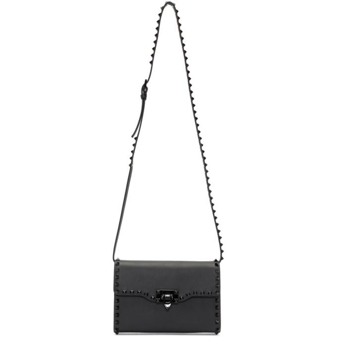 Valentino Black Valentino Garavani Medium Rockstud Bag