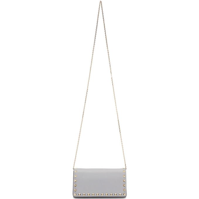 Valentino Grey Valentino Garavani Rockstud Bag
