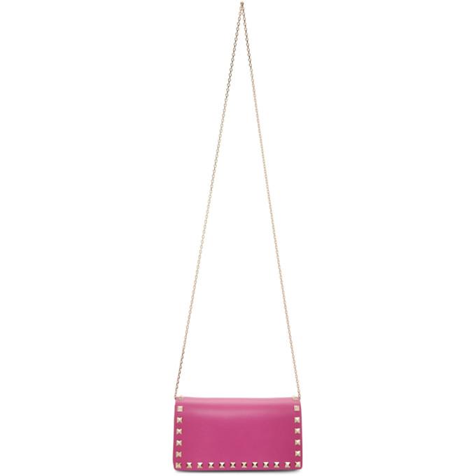 Valentino Pink Valentino Garavani Rockstud East/West Flap Bag