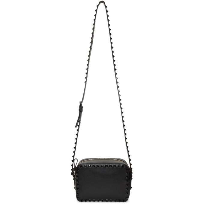 Valentino Black Valentino Garavani Tonal Rockstud Bag