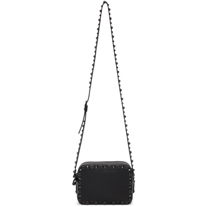 Valentino Black Valentino Garavani Onix Shoulder Bag