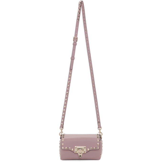 Valentino Pink Valentino Garavani Mini Rockstud Cross Body Bag