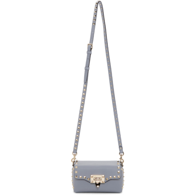 Valentino Blue Valentino Garavani Mini Rockstud Cross Body Bag