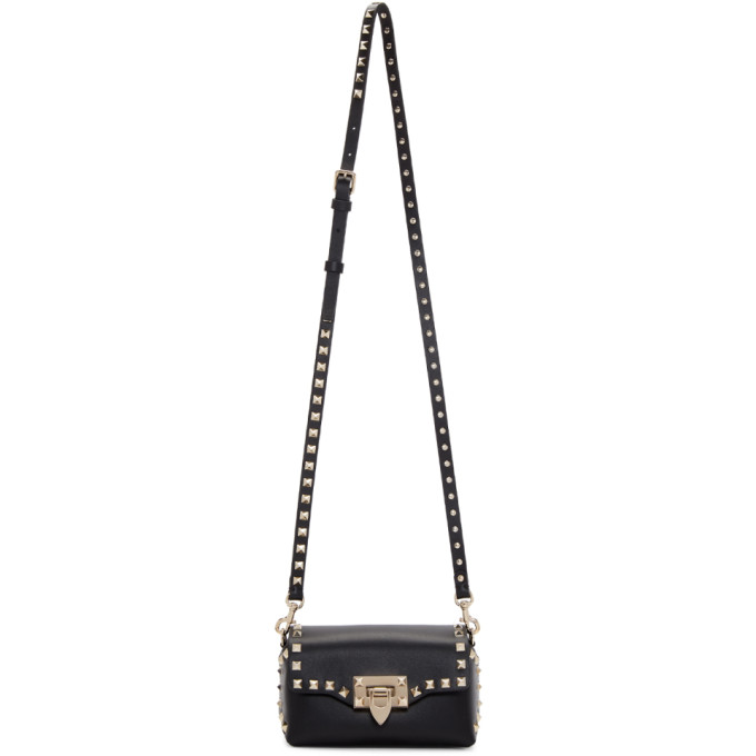 Valentino Black Valentino Garavani Mini Rockstud Cross Body Bag