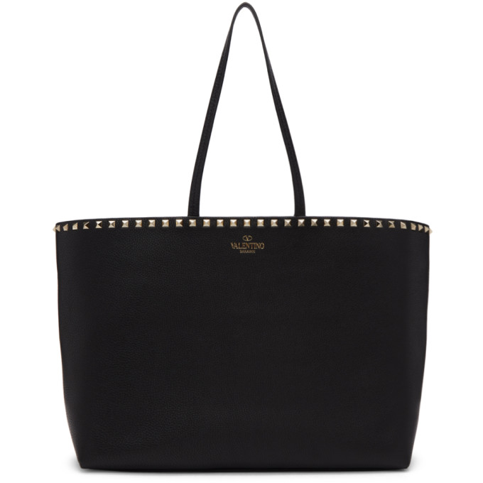 Valentino Black Valentino Garavani Rockstud Tote Bag