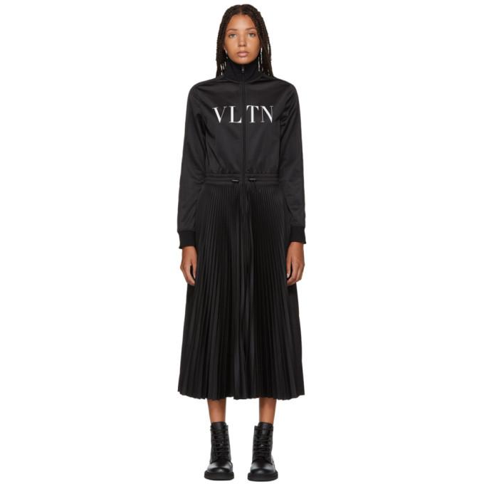 Valentino Robe a logo en jersey noire