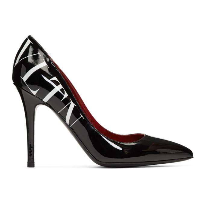 Valentino Black Valentino Garavani 'VLTN' Heels