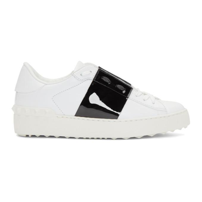 Valentino White & Black Valentino Garavani Open Sneakers