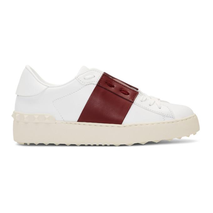 Valentino White & Red Valentino Garavani Open Sneakers