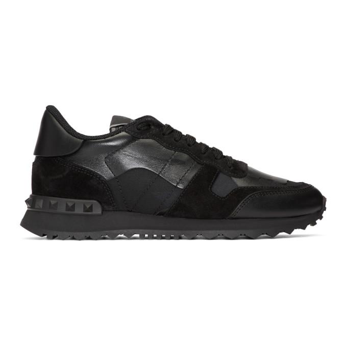 Valentino Black Valentino Garavani Stud Runner Sneakers