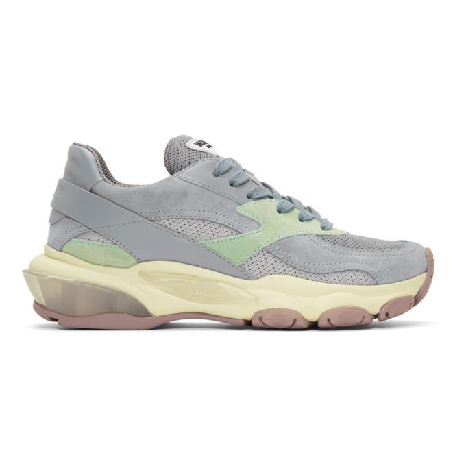 Valentino Silver Valentino Garavani Bounce Sneakers in Grey