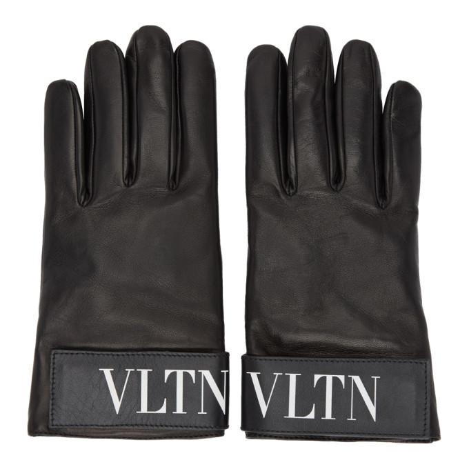 Valentino Gants noirs VLTN Valentino Garavani
