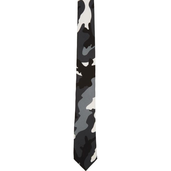 Image of Valentino Multicolor Valentino Garavani Silk Camouflage Tie