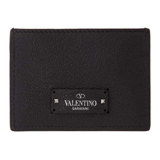 Image of Valentino Black Valentino Garavani Card Holder