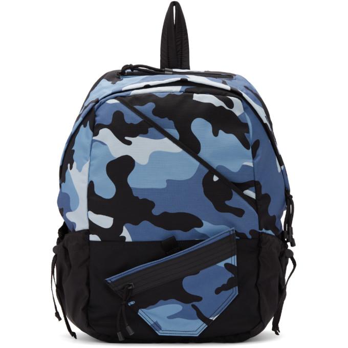 Valentino Blue Valentino Garavani New Camo Backpack