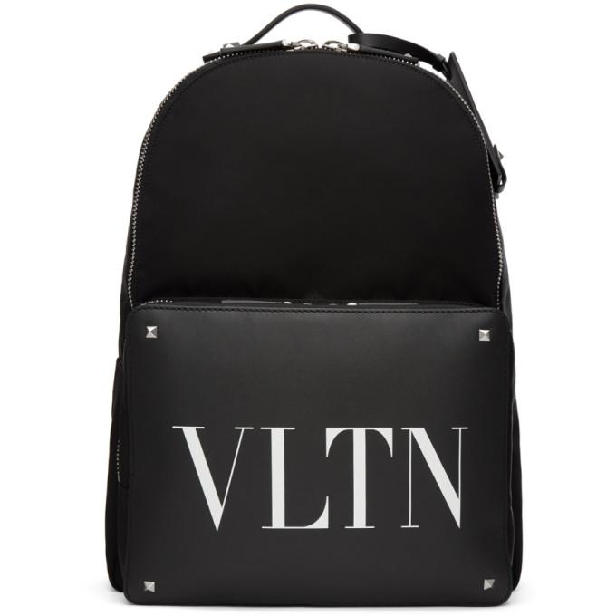 Valentino Black Valentino Garavani 'VLTN' Backpack