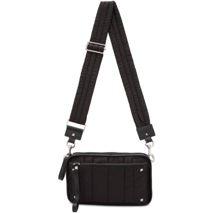 Valentino Black Valentino Garavani Small Nylon Messenger Bag
