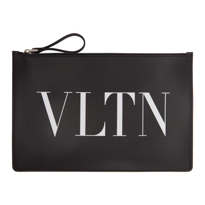 Valentino Black Valentino Garavani 'VLTN' Pouch