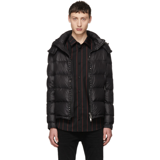 Image of Valentino Black Rockstud Untitled Down Jacket