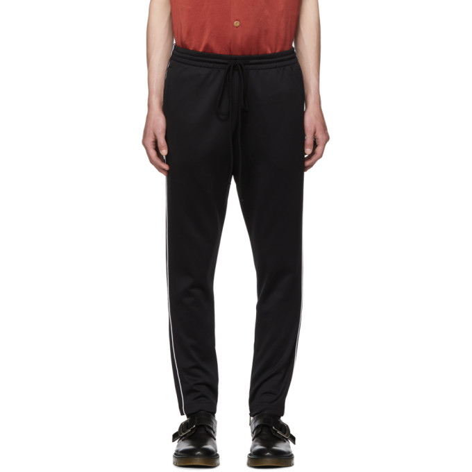 Image of Valentino Black Piped Lounge Pants