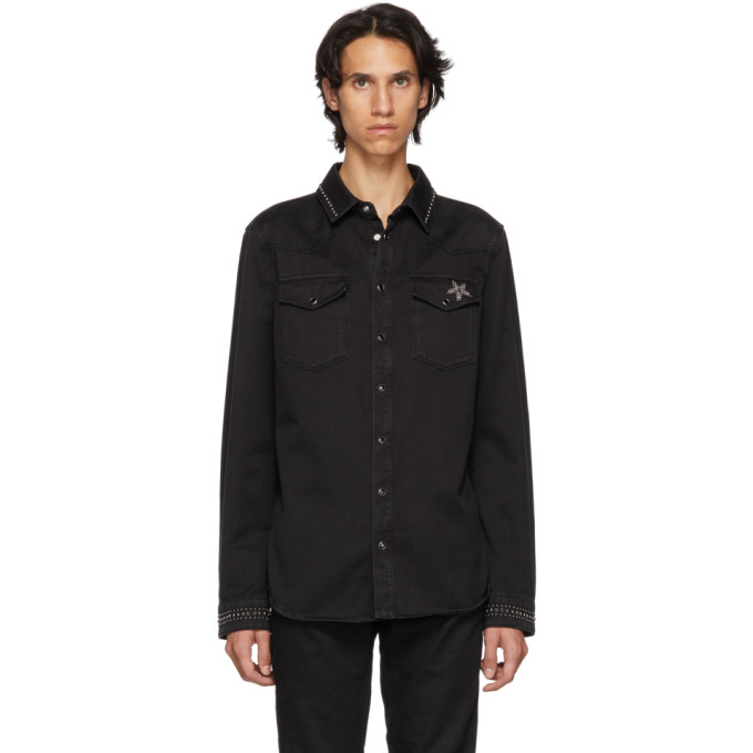 Valentino ブラック デニム シャツ