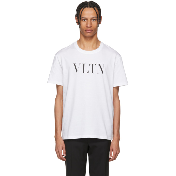 Valentino ホワイト VLTN T シャツ
