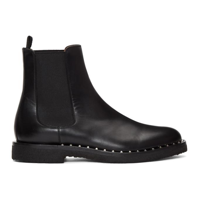 Valentino Black Valentino Garavani Soul Rockstud Chelsea Boots