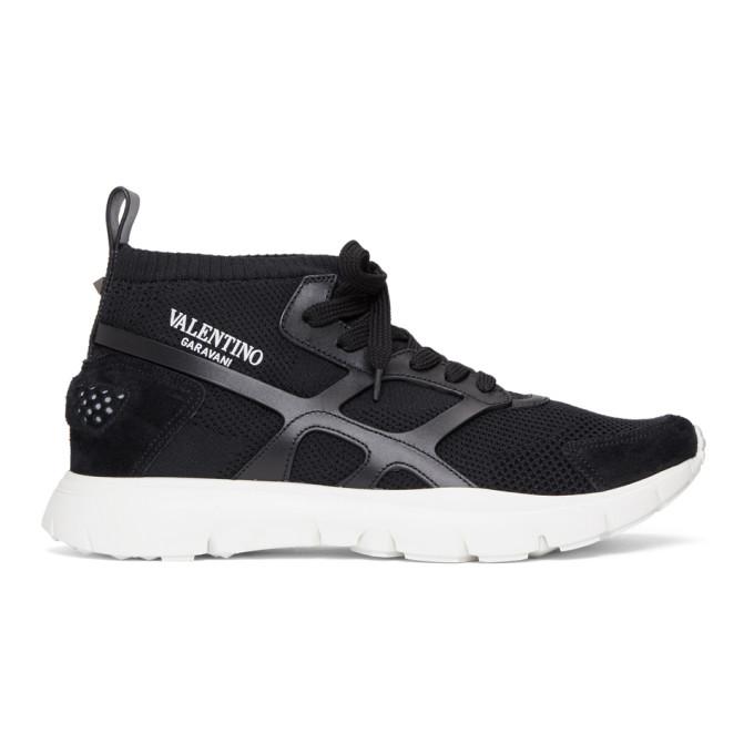 Valentino Black Valentino Garavani Sound High-Top Sneakers